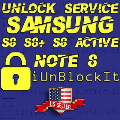 Instant Network Unlock Service Galaxy S8 S8+ S8 Active Note 8 ATT Sprint Tmobile