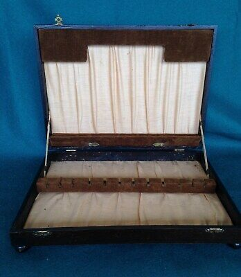 Vintage Oak Empty Canteen of Cutlery Box Wooden Storage Display Jewellery Box