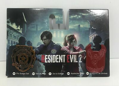 Resident Evil 2 Pin Badge Set Numskull Raccoon City Police Made in Heaven (New)