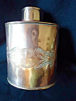 "Antique Scottish Flask Lidded Can - Exquisite Celtic Design-Marked -""J S & S"""