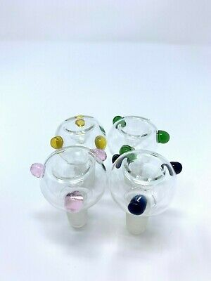 Hookah Water Pipe 14mm Male Bowl Tobacco Bowl Piece Assorted Colors
