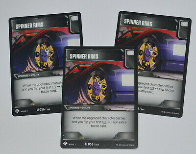 TRANSFORMERS TCG Wave 3 Siege // 3-Card Playset / U 056 Spinner Rims