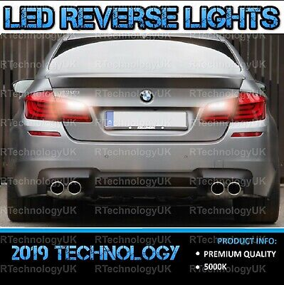 PREMIUM BMW 5 Series F10 F11 2010-2016 Xenon White LED Reverse Light Bulb LEDs