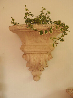 Gorgeous Vintage Wall Sconce Planter with Original Pale cHiPpY Paint #2 of 2