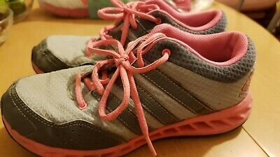 Girls Adidas Grey And Pink  Trainers Size Uk 2