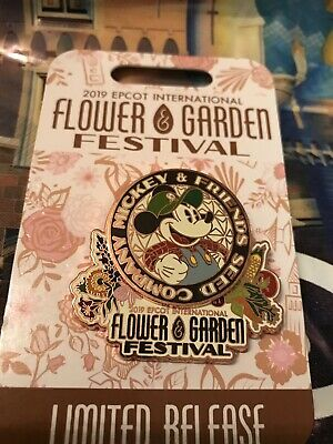 Disney Parks Epcot Flower & Garden Festival 2019 Mickey Mouse Logo 3-D Pin New
