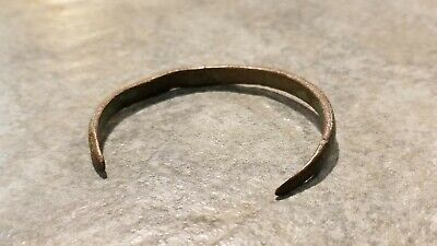 Ancient Roman Small Bronze BRACELET (#3), Intact, 1st - 4th Century AD, 49mm ID