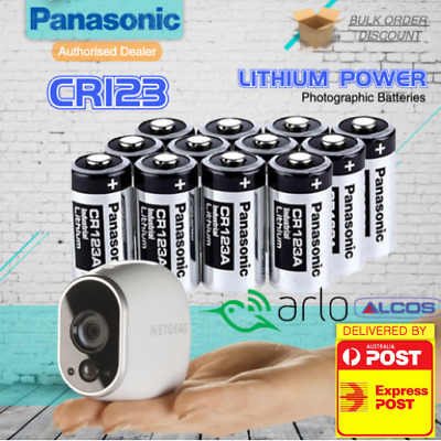 Panasonic 3V CR123A CR17345 Lithium Battery CR123 DL123A EL123A Arlo Camera 12pk