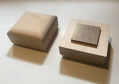 "(1) Maple Wood -Unfinished Newell Post Cap / Finial 3-1/2"" x 3-1/2"" stair parts"