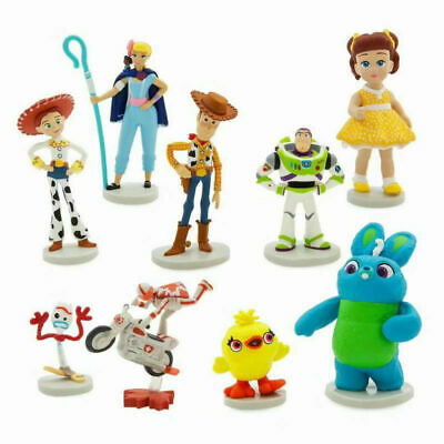 NEW  Toy Story 4 Movie 9PCS  Figure  With Character Forky and Bonus Great Gift