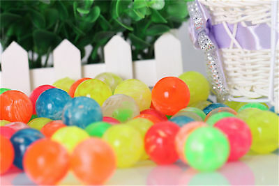 30Pcs Bouncy Jet Ball Football 20mm Birthday Party Loot Bag Fillers Kids Toys UK