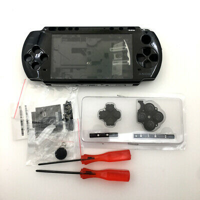 Black Replacement Shell Housing Buttons screwdriver Full Kits For Sony PSP 3000