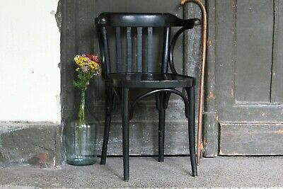 Thonet Bentwood Bistro Chair Black Vintage Terrace Wood Chair Kitchen Furniture