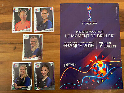 Extra Stickers Panini Wc France 2019 Women 5 Mint Shiny Silver Stickers Soldout!