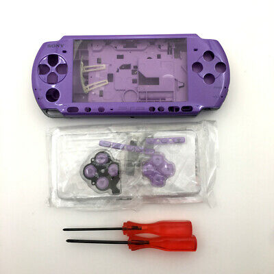 Purple Replacement Shell Housing Cover Buttons screwdriver kit For Sony PSP 3000