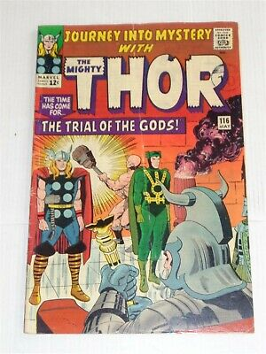 Journey Into Mystery #116 May 1964 Vg+ 4.5 Jack Kirby Thor Marvel Comics **