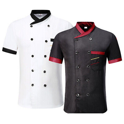 Men Women Shirts Stand Collar Tops Casual Kitchen Worker Hotel Chef Cook Blouse