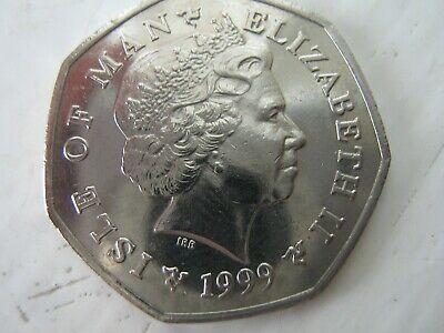 1999 Isle of Man T.T. 50p Pence Coin Philip McCallen very rare date