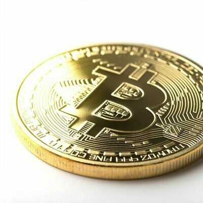 Bitcoin Physical Collectible Coin BTC Gold Plated 1 Ounce 40mm - UK STOCKIST