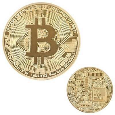 Bitcoin Physical Collectible Coin BTC Gold Plated 1 Ounce 40mm - UK STOCKISTS
