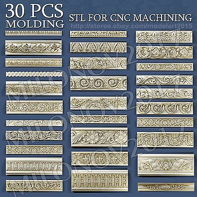 3d stl Model relief for CNC Router Artcam 30 pcs Pack
