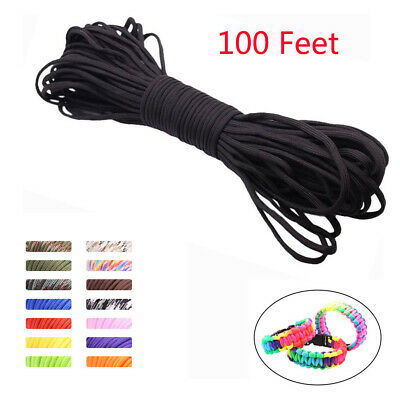 Paracord 100 Feet Mil Spec 7 Strand Type 32 Woven Parachute Cord Rope Tie Down
