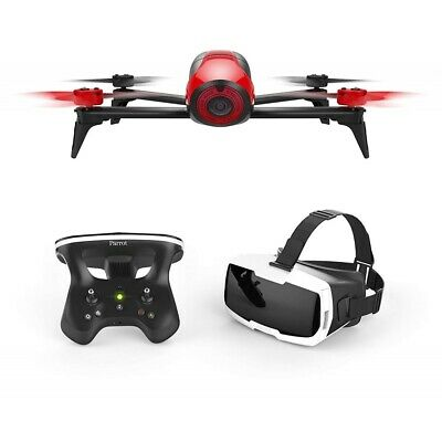 Parrot Bebop 2 FPV rot Set mit Skycontroller und FPV-Brille Kamera Drohne 14MP