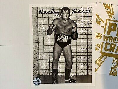 Wrestling Autograph - Harley Race - Pro Wrestling Crate Exclusive - WWE WCW NWA