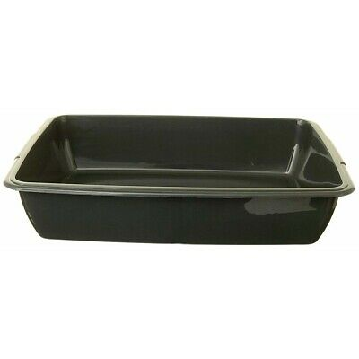 Cat Litter Tray Box 40cm Large Size Plastic Pet Dog Puppy Toilet Home Tidy Black