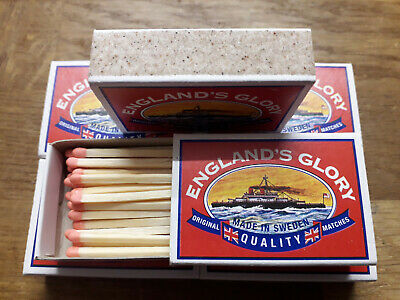 10 Boxes England Glory Strike Anywhere Matches For Candles BBQ Camping Cooker