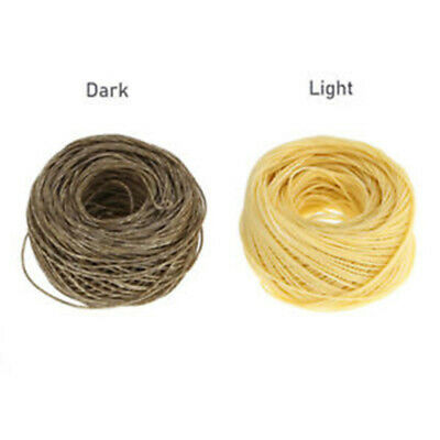 Thick Roll 61M Hemp Wick Natural Beeswax Coating Candle Wick DIY Oil Lamp 2Color