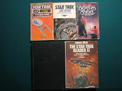 Star Trek - lot of 5 books - Star Trek Reader I and II, Log two, Log Seven