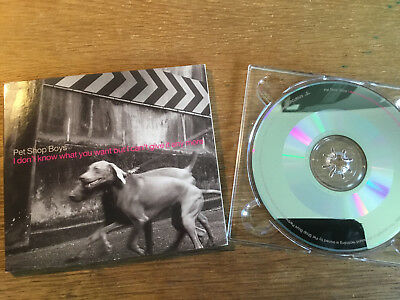 Pet Shop Boys - I Don't Know What You Want But I Can't [ CD Maxi PROMO ] 1999