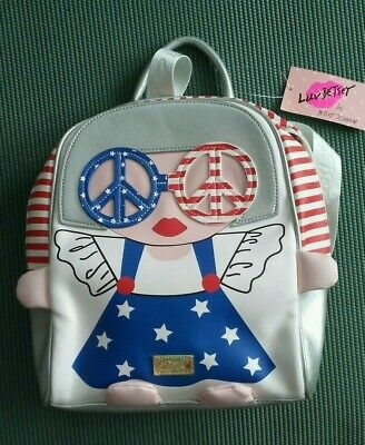 NWT LUV Betsey Johnson American Girl Backpack stars stripes red white blue $88