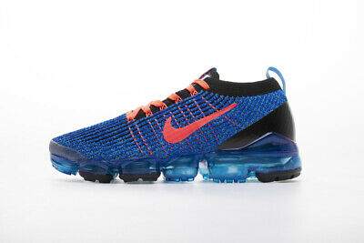 Nike Men's Air VaporMax Flyknit 3.0 Running Shoes Sneakers Blue & Red