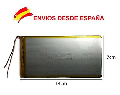 BATERIA TABLET,  4000 mAh 3.7 V SUNSTECH WOLDER UNUSUAL WOXTER SZENIO INGO CARRE