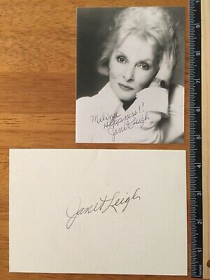 2 Janet Leigh Psycho Actress Hand Signed Autograph - A Collectors Must Have