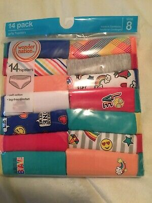 Girl's Wonder Nation Hipster Panty Size 8 - 14 Pack  Multi Color
