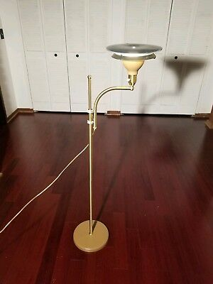 VTG Mid century atomic LAUREL SPACE AGE UFO FLOOR LAMP working light metal 1960s