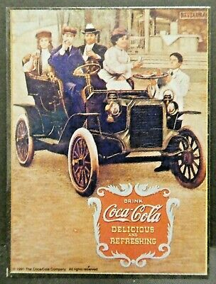 "Dollhouse Miniatures Metal Sign Advertising Coke Auto COCA COLA 2 1/4"" x 3 1/8"""