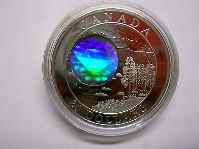 Pure .999 Silver $20 Coin 2005 Canadian Northwest Territories Diamonds