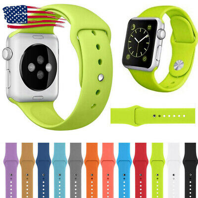 For Apple Watch Series 4/3/2/1 38/42 Replacement Soft Silicone Sport Band Strap