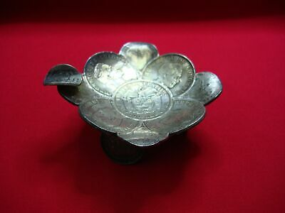 Colombian 900 Silver Coin Ashtray Very Scarce !!