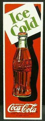 "Dollhouse Miniatures Metal Sign Advertising Coke Ice Cold Bottle COCA COLA 3""x1"""
