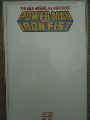 Power Man and Iron Fist (Blank variant cover) #1
