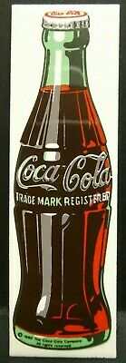 "Dollhouse Miniatures Metal Sign Advertising Coke Bottle COCA COLA 3 1/4"" x 1"""