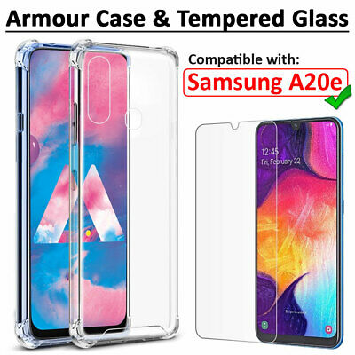 Case for Samsung Galaxy A20e Shockproof Clear AIR Case & Screen Protector