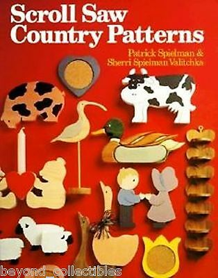 Craft Book - Scroll Saw Country Patterns & Instructions - Miniatures Sc