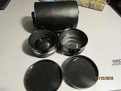 Yashica lens Conversion Set Yashikor AUX Wide Angle 1:4 & Telephoto And Telewide