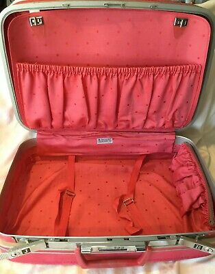 Vintage Samsonite Fashionaire 100 Hot Pink Suitcase With Combo Lock